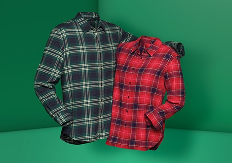 FLANNEL REGULAR FIT SHIRT (REGULAR COLLAR)