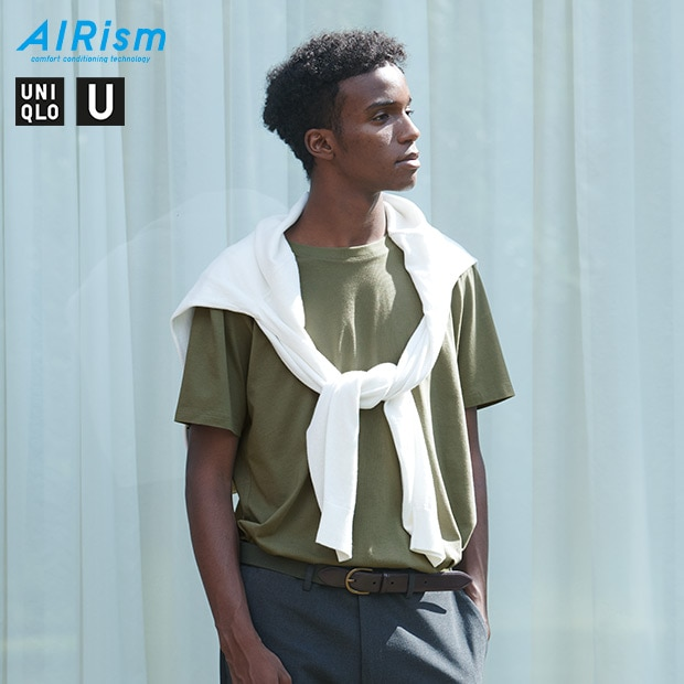 UNIQLO U AIRISM COTTON OVERSIZED FIT T-SHIRT