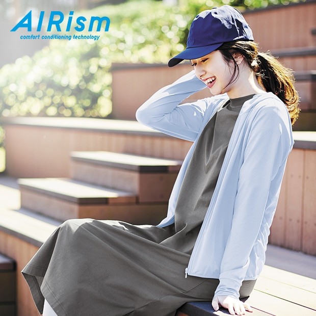 AIRISM UV PROTECTION MESH ZIPPED HOODIE