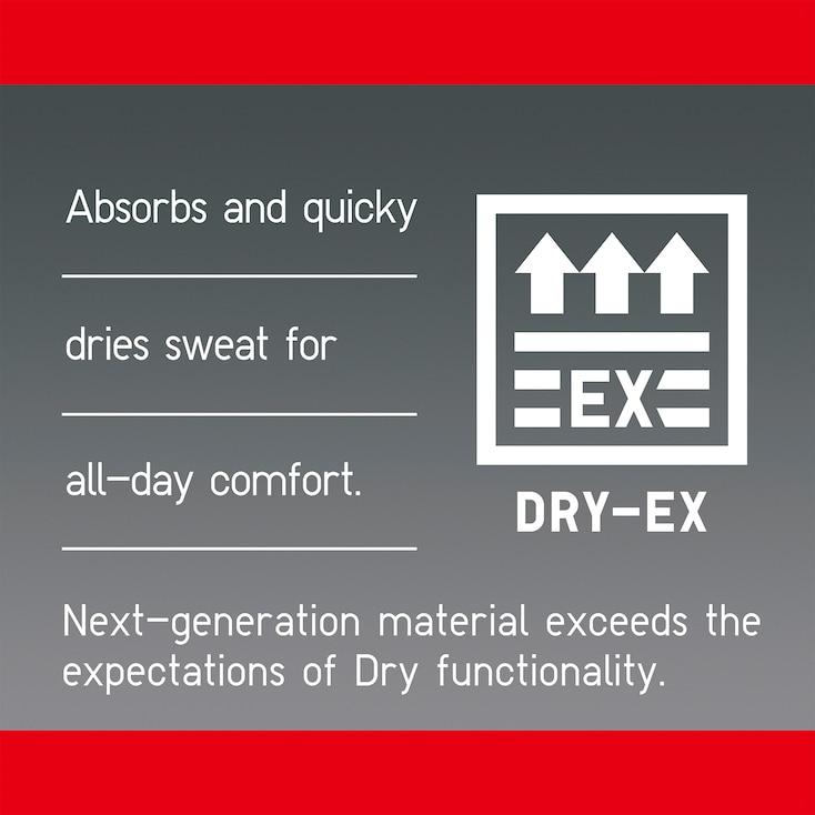 Men Dry-Ex Crew Neck T-Shirt, Gray, Large