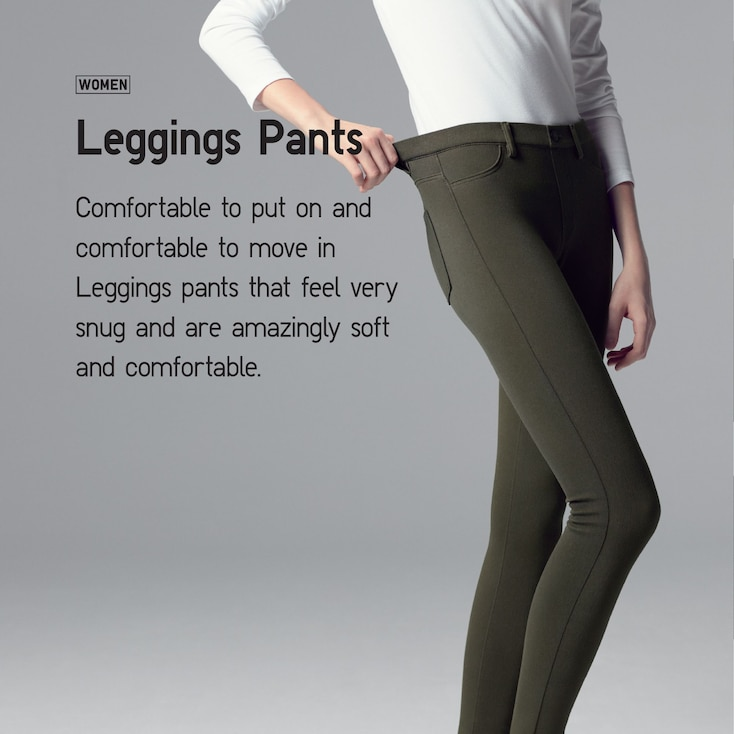 Women Denim Leggings Pants, Navy, Large
