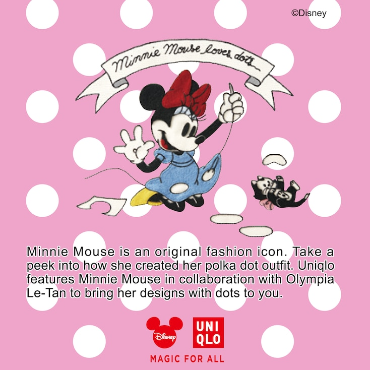 Women Disney (Minnie Mouse Loves Dots) Short-Sleeve Graphic T-Shirt, White, Large