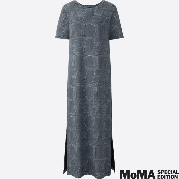 Women Sprz Ny Short Sleeve T Dress (Sol Lewitt), Navy, Large
