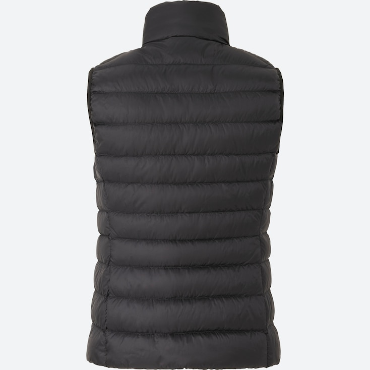 Women Ultra Light Down Vest, Off White, Large