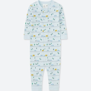 NEWBORN LONG-SLEEVE ONE-PIECE OUTFIT, BLUE, medium