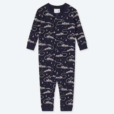 NEWBORN LONG-SLEEVE ONE-PIECE, NAVY, medium