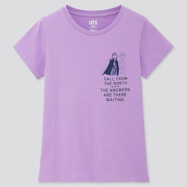 GIRLS DISNEY FROZEN 2 UT (SHORT SLEEVE GRAPHIC T-SHIRT), PURPLE, medium