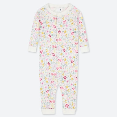 NEWBORN LONG-SLEEVE ONE-PIECE, OFF WHITE, medium