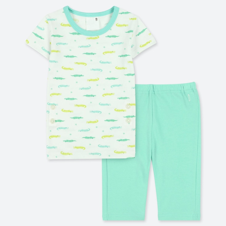 TODDLER SHORT-SLEEVE DRY PAJAMAS, GREEN, large