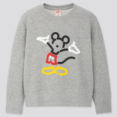 Kids Mickey Art Yoon Hyup Sweatshirt, Gray, Medium