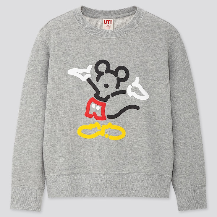 Kids Mickey Art Yoon Hyup Sweatshirt, Gray, Large