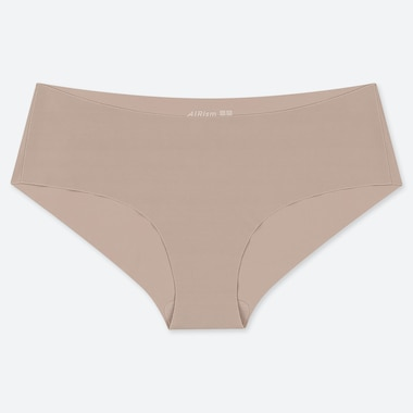 Women Airism Ultra Seamless Hiphugger, Khaki, Medium