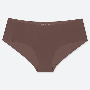 Women Airism Ultra Seamless Hiphugger, Brown, Medium