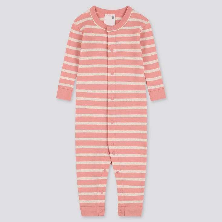 NEWBORN LONG-SLEEVE ONE-PIECE OUTFIT, PINK, large