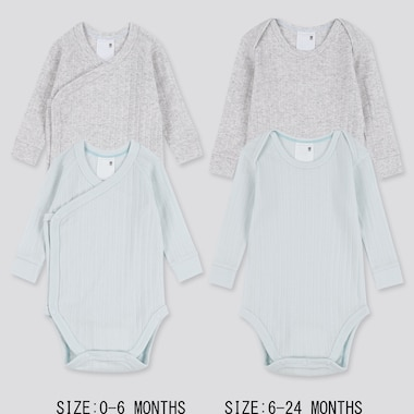 NEWBORN CREW NECK LONG-SLEEVE BODYSUIT (SET OF 2), LIGHT BLUE, medium