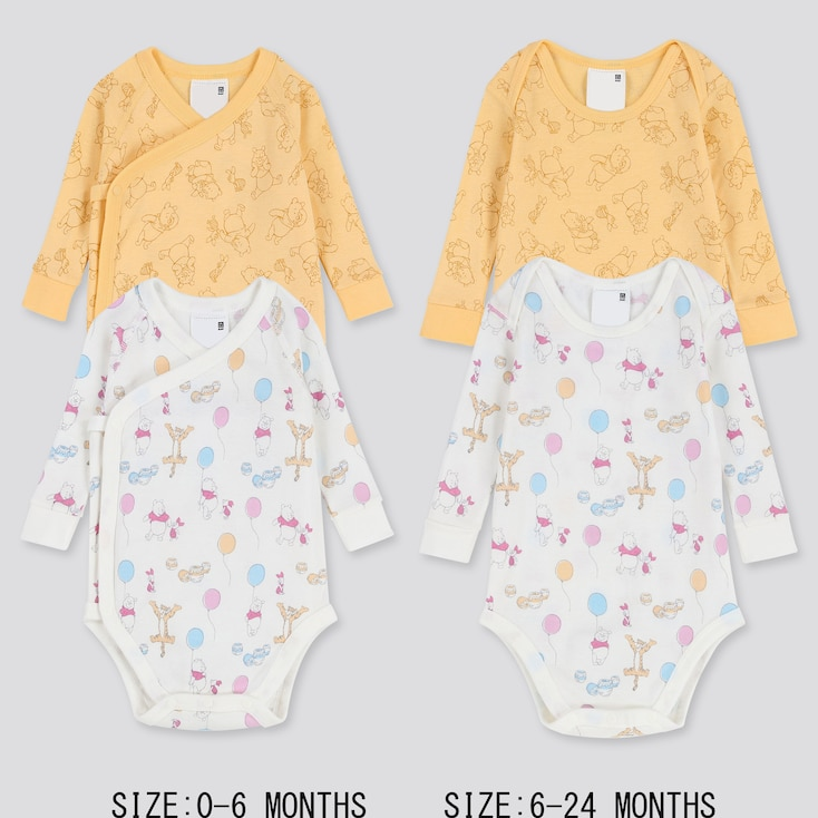 NEWBORN DISNEY COLLECTION LONG-SLEEVE BODYSUIT (SET OF 2), WHITE, large