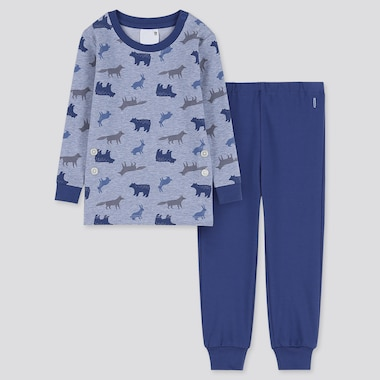 TODDLER LONG-SLEEVE PAJAMAS, BLUE, medium
