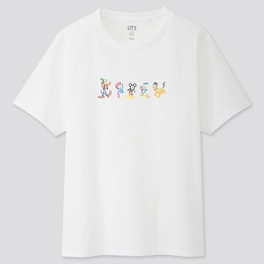 WOMEN MICKEY ART UT YOON HYUP (SHORT-SLEEVE GRAPHIC T-SHIRT), WHITE, medium