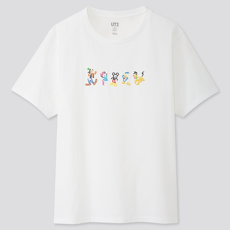 WOMEN MICKEY ART UT YOON HYUP (SHORT-SLEEVE GRAPHIC T-SHIRT), WHITE, large
