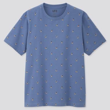 MICKEY ART UT YOON HYUP (SHORT-SLEEVE GRAPHIC T-SHIRT), BLUE, medium