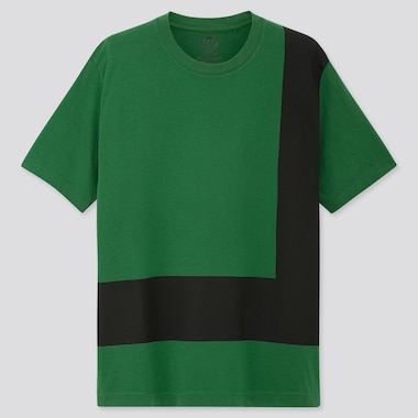 COLOR AND RHYTHM UT CARMEN HERRERA (SHORT-SLEEVE GRAPHIC T-SHIRT), GREEN, medium