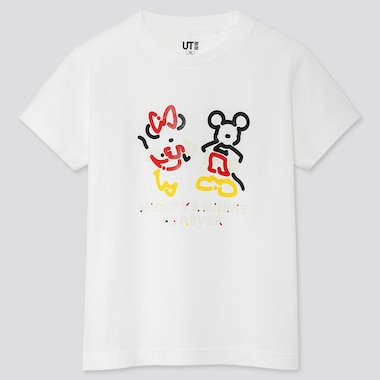KIDS MICKEY ART UT YOON HYUP (SHORT-SLEEVE GRAPHIC T-SHIRT), WHITE, medium