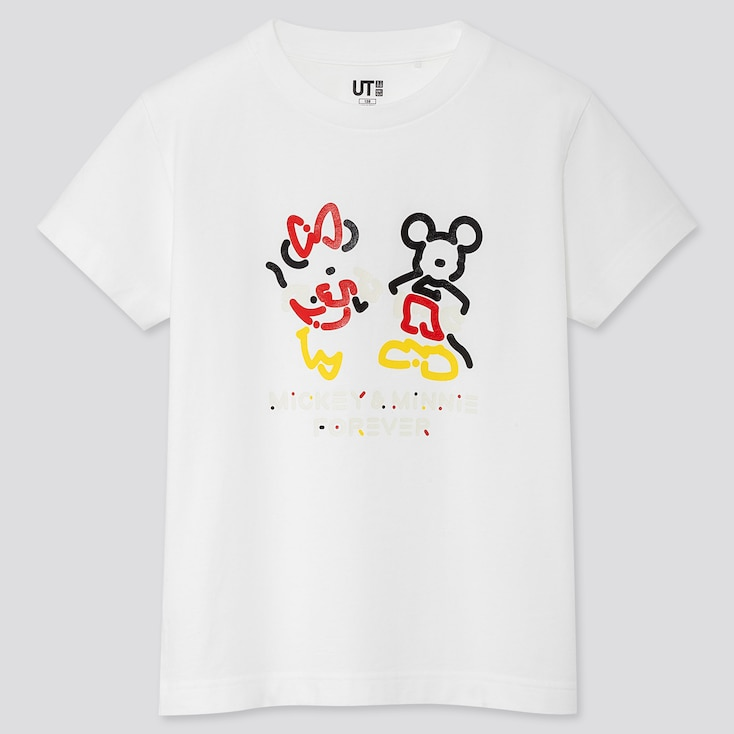 KIDS MICKEY ART UT YOON HYUP (SHORT-SLEEVE GRAPHIC T-SHIRT), WHITE, large
