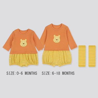 NEWBORN DISNEY LONG-SLEEVE BODYSUIT GIFT SET (SET OF 2), YELLOW, medium