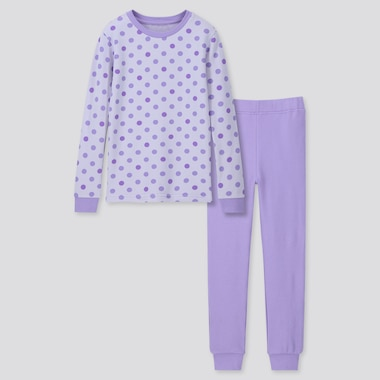 GIRLS ULTRA STRETCH LONG-SLEEVE SWEAT SET, PURPLE, medium
