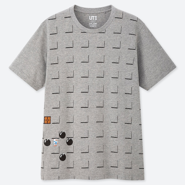 The Game Pixels Ut (short-sleeve Graphic T-shirt), Gray, Large