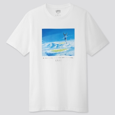MAKOTO SHINKAI FILM UT (SHORT-SLEEVE GRAPHIC T-SHIRT), WHITE, medium