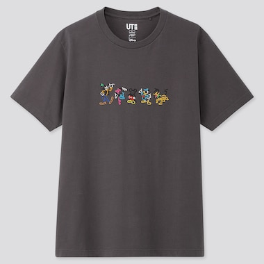 MICKEY ART UT YOON HYUP (SHORT-SLEEVE GRAPHIC T-SHIRT), DARK GRAY, medium