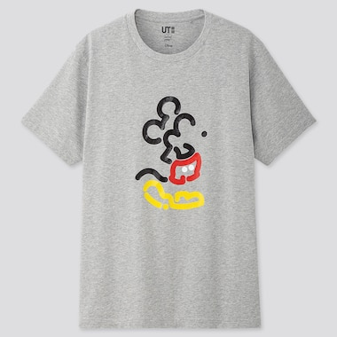 MICKEY ART UT YOON HYUP (SHORT-SLEEVE GRAPHIC T-SHIRT), GRAY, medium
