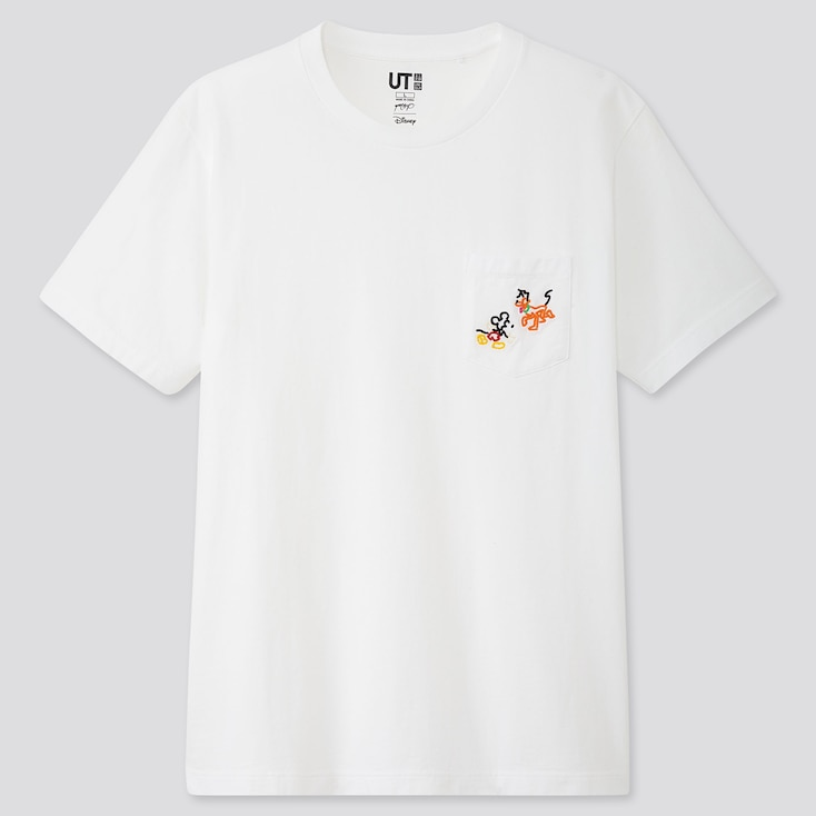MICKEY ART UT YOON HYUP (SHORT-SLEEVE GRAPHIC T-SHIRT), WHITE, large