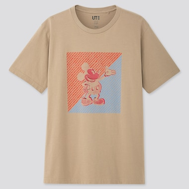 Mickey Art Ut Kate Gibb (Short-Sleeve Graphic T-Shirt), Beige, Medium