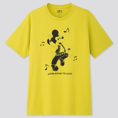 MICKEY ART UT KOICHIRO TAKAGI (SHORT-SLEEVE GRAPHIC T-SHIRT), YELLOW, medium