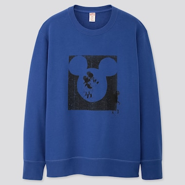 MICKEY ART KATE GIBB LONG-SLEEVE SWEATSHIRT, BLUE, medium