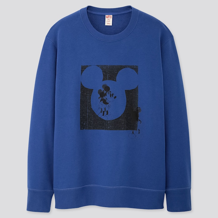 MICKEY ART KATE GIBB LONG-SLEEVE SWEATSHIRT, BLUE, large