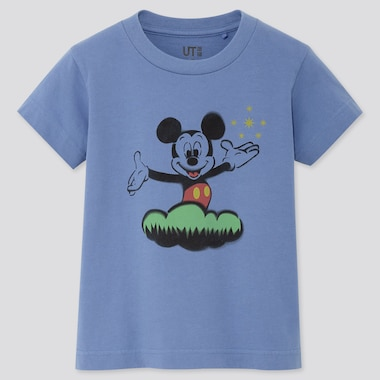 KIDS MICKEY ART UT KOICHIRO TAKAGI (SHORT-SLEEVE GRAPHIC T-SHIRT), BLUE, medium