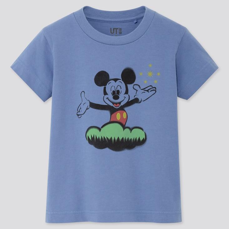 Kids Mickey Art Ut Koichiro Takagi (Short-Sleeve Graphic T-Shirt), Blue, Large