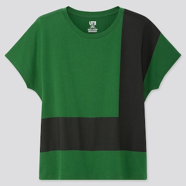 WOMEN COLOR AND RHYTHM UT CARMEN HERRERA (SHORT-SLEEVE GRAPHIC T-SHIRT), GREEN, medium