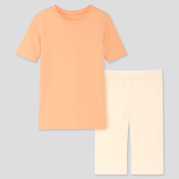 Kids Dry Stretch Set, Light Orange, Large