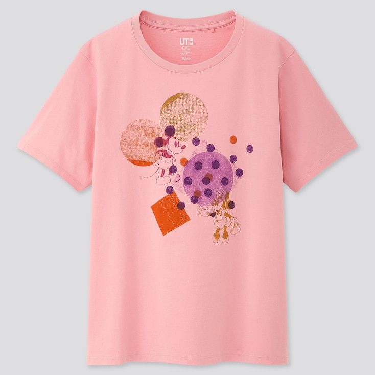 Women Mickey Art Ut Kate Gibb (short-sleeve Graphic T-shirt), Pink, Large