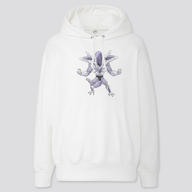 DRAGON BALL KOSUKE KAWAMURA LONG-SLEEVE HOODED SWEATSHIRT, OFF WHITE, medium