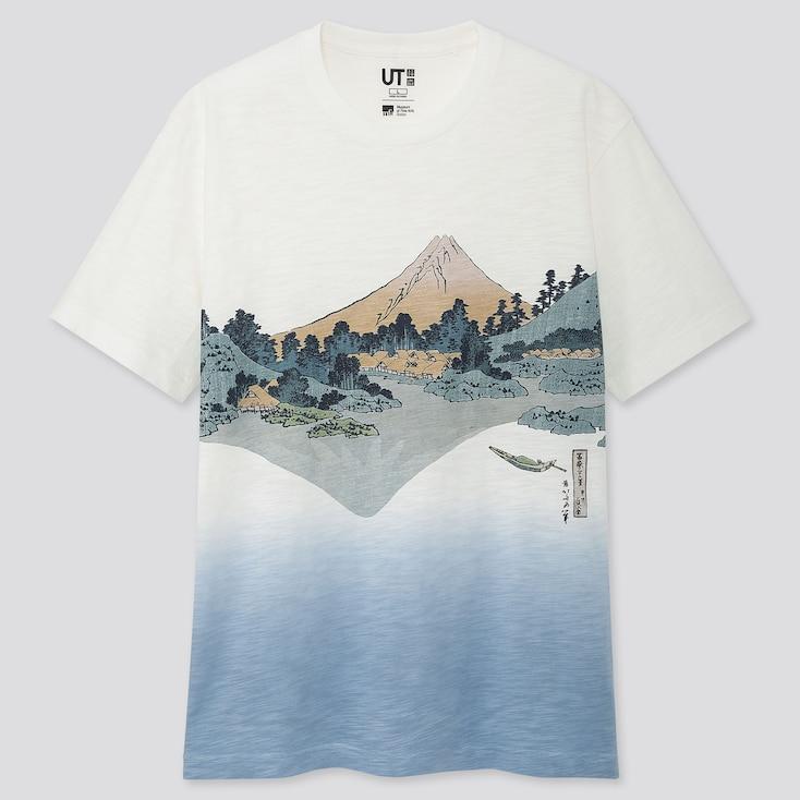Edo Ukiyo-E Ut (Short-Sleeve Graphic T-Shirt), Off White, Large