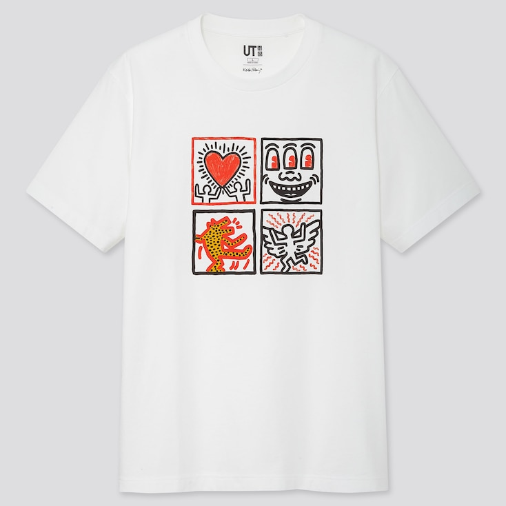 Crossing Lines Ut Keith Haring (Short-Sleeve Graphic T-Shirt), White, Large
