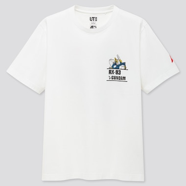 Gunpla 40th Ut (Short-Sleeve Graphic T-Shirt), White, Medium