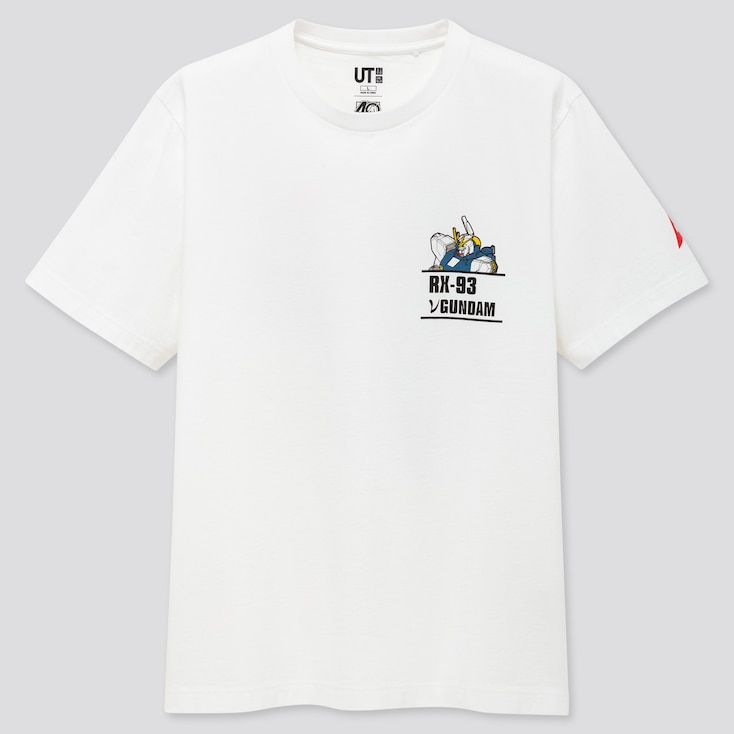 Gunpla 40th Ut (Short-Sleeve Graphic T-Shirt), White, Large