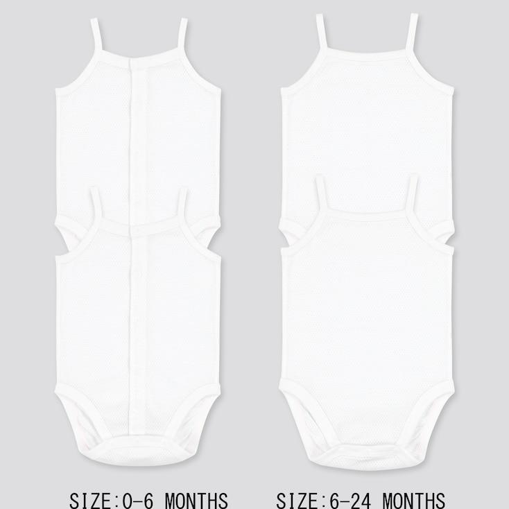 Newborn Cotton Mesh Inner Camisole Bodysuit (Set Of 2) (Online Exclusive), White, Large