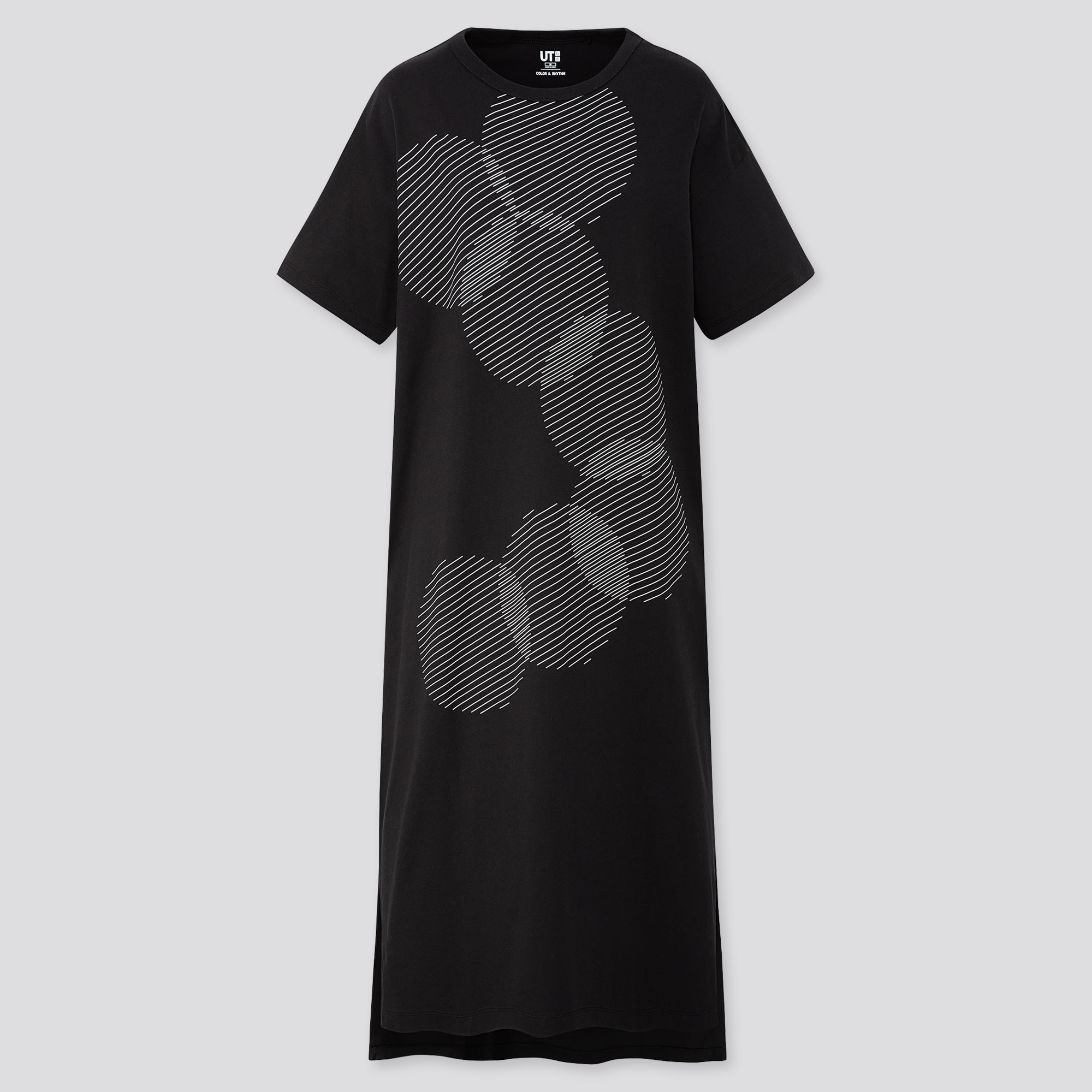 unique style new release available WOMEN COLOR AND RHYTHM LYGIA PAPE SHORT-SLEEVE T-SHIRT DRESS